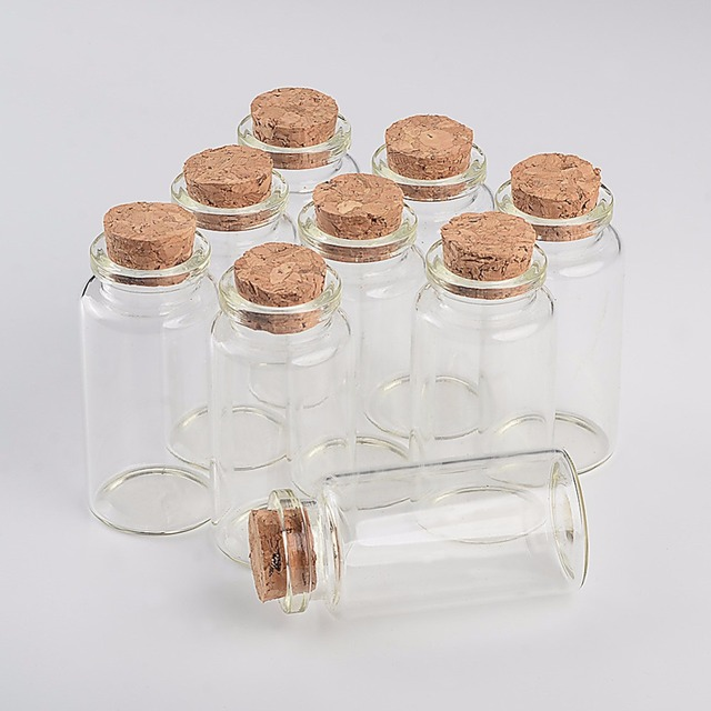 50 st cke 30x60x17mm 25 ml leere dekorative handwerk glasflaschen kleine. Black Bedroom Furniture Sets. Home Design Ideas