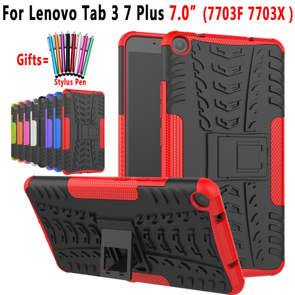 For Lenovo Tab3 7 Plus Case Tire Pattern Silicon Tablet Stand Holder Cover For Lenovo Tab 3 7 Plus 7703F 7703X Coque Capa Funda ynmiwei miix 320 tablet case for lenovo ideapad miix 320 leather case stand holder lichee pattern miix320 cover cases