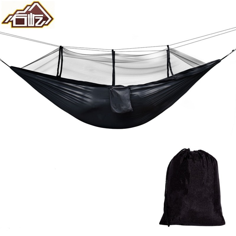 Camping Hammock with Mosquito Net,Double Persons Bed Tent Portable Cot for Relaxation,Tr ...