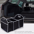 Car Truck Van SUV Storage Basket Trunk Organizer Boot Stuff Food Automobile Stowing Tidying Folding Bag Car Trunk Organizer