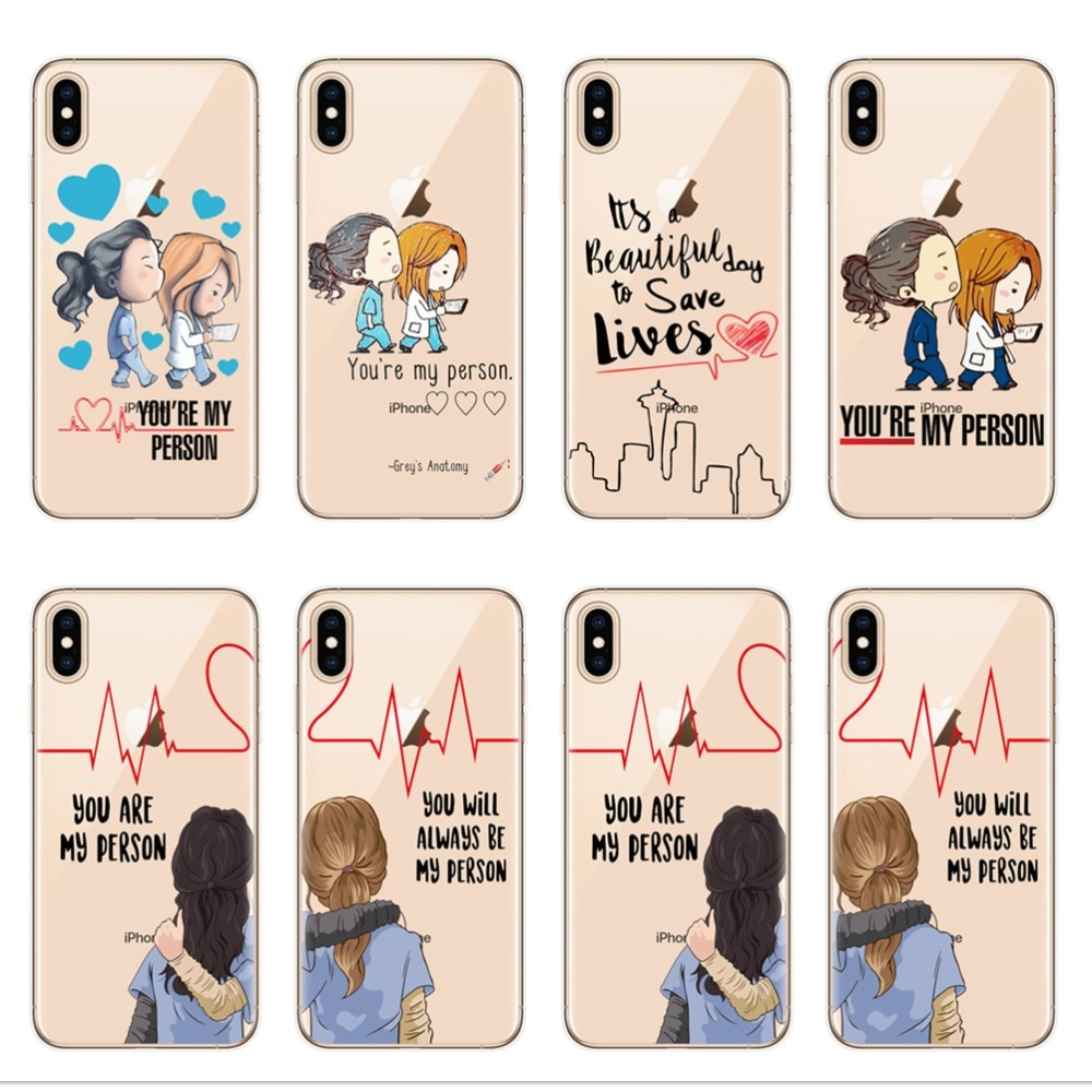 grays anatomy We will always be <font><b>best</b></font> <font><b>friends</b></font> BFF case soft TPU phone cover cases for <font><b>iPhone</b></font> 6 6S 7 8 plus X XR XS MAX <font><b>5s</b></font> <font><b>coque</b></font> image