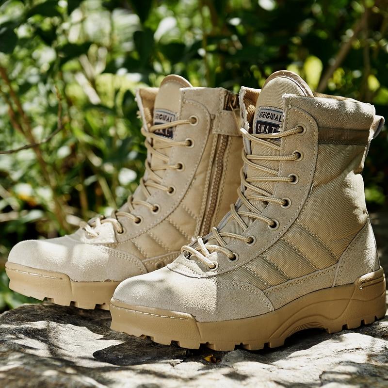 Forces spéciales de L'armée bottes militaires Tactique Sécurité Sports de Plein Air Combat Désert Escalade chaussures de trekking chaussures de randonnée Hommes