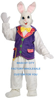 Easter Theme Costume Mascot Deluxe Rabbit Mascot Costume Adult Size Plush Mascotte Mascota Outfit Suit Fancy Dress Cosply SW1109
