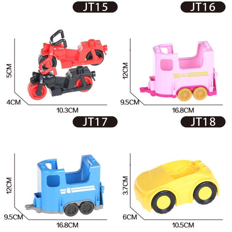 Bloques de construcción de partículas grandes accesorios compatibles ladrillos de gran tamaño coche camión de bomberos juguetes para regalo de niños