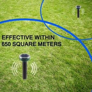 Image 4 - 4pcs שמש מופעל פשט לדחות קולי סוניק עכבר שומה חרקים הדברת מכרסמים דוחה LED אור Repeller חיצוני מנורת גינה