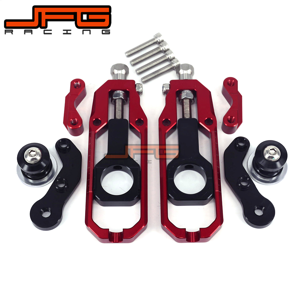 Chain Adjusters Tensioners With Spool Fit for HONDA CBR600RR CBR600 RR 2007 2008 2009 2010 2011 2012 Motorcycle for honda cbr600rr 2007 2008 2009 2010 2011 2012 motorbike seat cover cbr 600 rr motorcycle red fairing rear sear cowl cover
