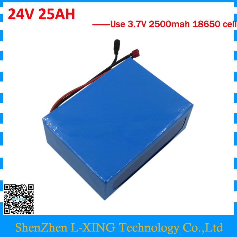 Free customs fee 24V lithium battery 24V 25AH li-ion battery 24 V 25AH Ebike Lithium battery with PVC Case 30A BMS 3A Charger ebike 24v 52 2ah lithium battery frame triangle li ion battery for pa ncr18650pf cell with free bms and 5a charger
