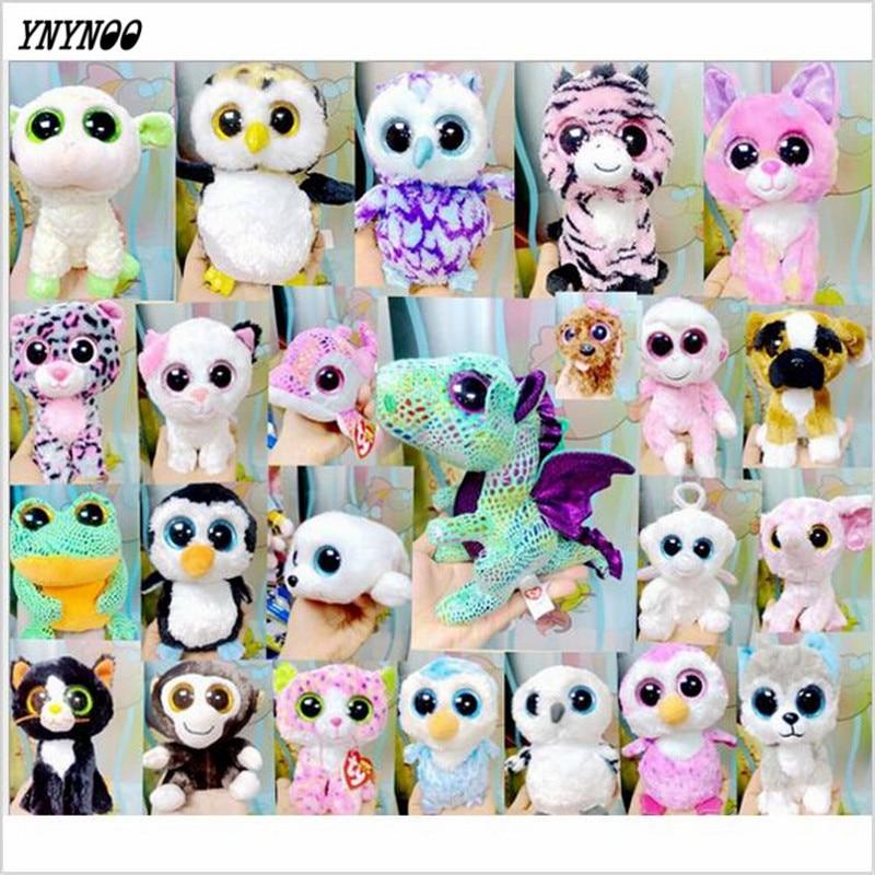 YNYNOOO riginal Ty Beanie Boos Tess Tiger Plush Toy Boneca 15cm Big Eyed Stuffed Animals Kids Christmas Soft Toys for kids Gift ty frizzy домовёнок tang 15 см 37138