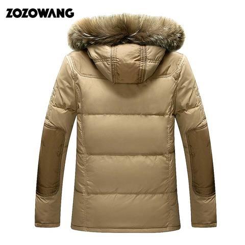 90% Down Jackets Men Winter Jacket Men Fashion Thick Warm Parkas Fur White Duck Down Coats Casual Man Waterproof Down Jackets Multan