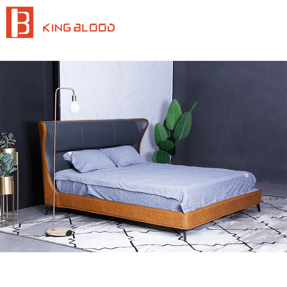 Italian Bed Frame King Size Leather Bed Designs In Beds From