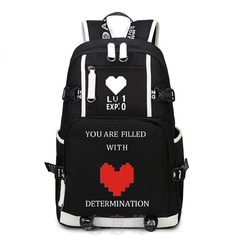 New Undertale Backpack School Bags Bookbag Cosplay Anime Game Sans Travel Casual Laptop Shoulder Bags Rucksack anime game zelda link school backpack for boy girls bags cartoon student bookbag unisex color shoulder laptop travel bags