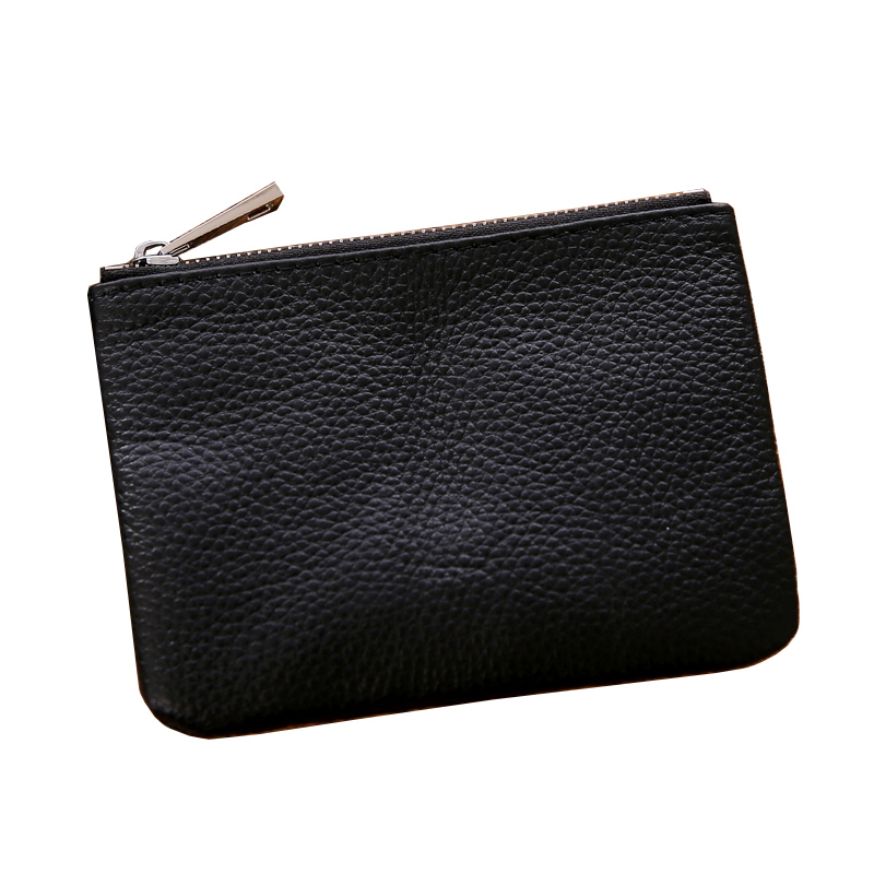 Genuine Leather Fashion New Classic Simple Women Men Cluth Bag Zipper Small Coin Purses Card Holders Key Holder Change Wallet restoring layered landscapes