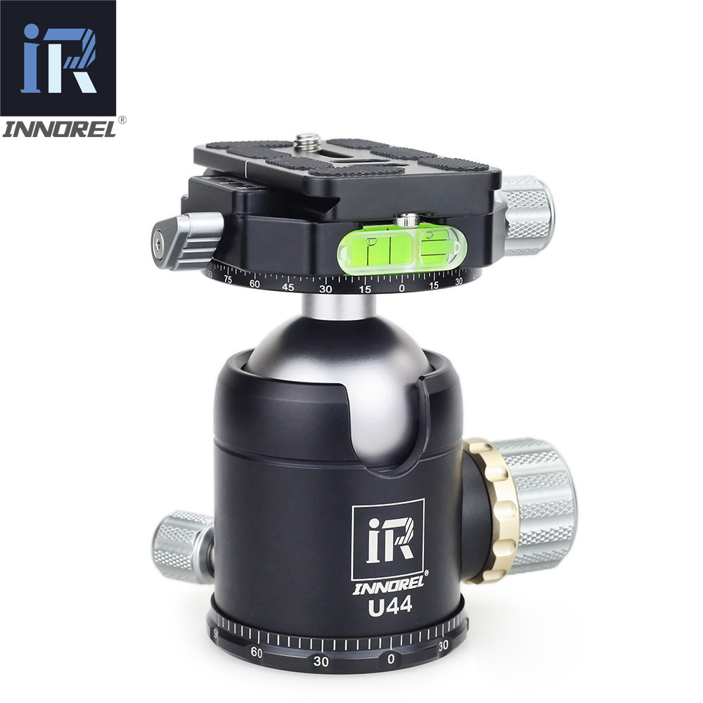 INNOREL U44 Heavy Duty Double Panoramic 44mm Ball Head 720 Degree Tripod Head Ballhead for Camera