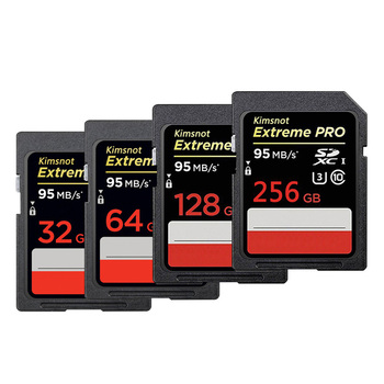 Kimsnot 633x Memory Card SDXC Card 64GB 128GB 256GB SD Card Class10 32GB 16GB SDHC Card High Speed 95mb/s UHS-I For DSLR Camera Memory Cards
