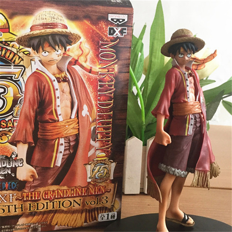 1pc/lot Anime One Piece Luffy Figures PVC Action Figures Collection Model Toys Best Birthday Gifts For Kids Red Cloak 17cm [yamala] 2pcs set 18cm anime one piece luffy ace pvc action figure model toys christmas toy model gifts for children