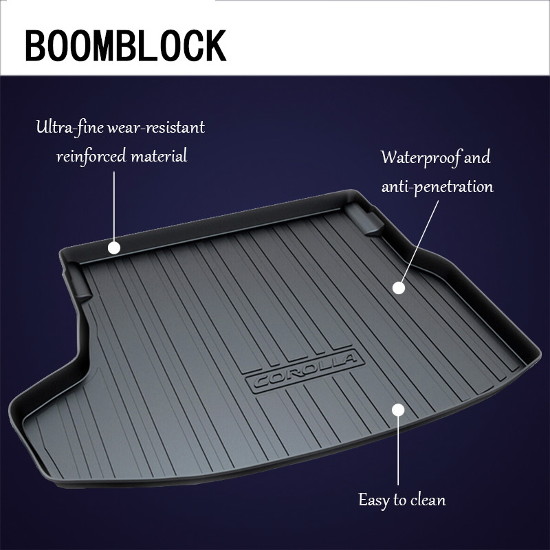 BOOMBLOCK Car Special Trunk Floor Foot Mat For Toyota Rav4 Camry XV40 XV50 Corolla E140 E150 E170 Reiz Vios sedan наклейки for toyota 2015 toyota toyota corolla vios reiz jiamei camry yaris rav4