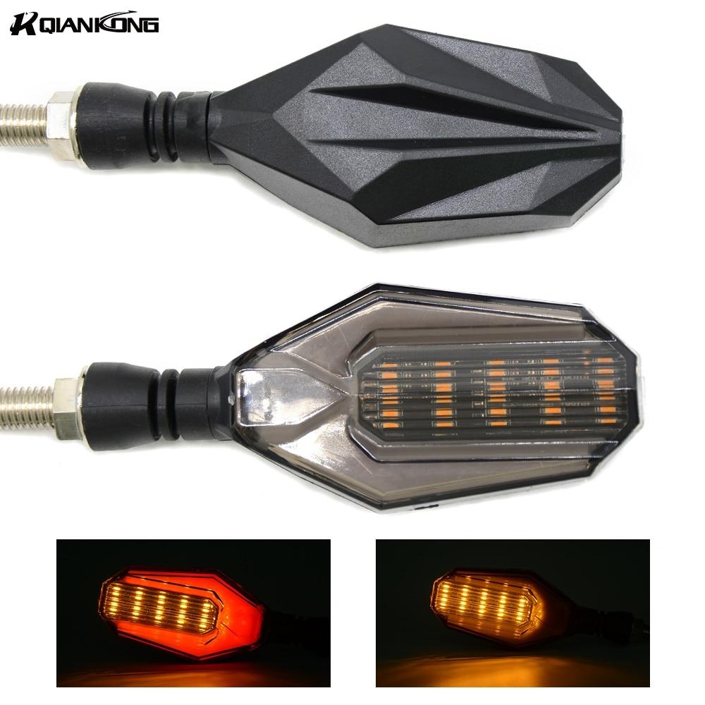 Universal Motorcycle LED Turn Signal Light Indicators Blinker Light Flashers Lighting For Suzuki SFV650 GSF1200 GSF1250 Bandit1