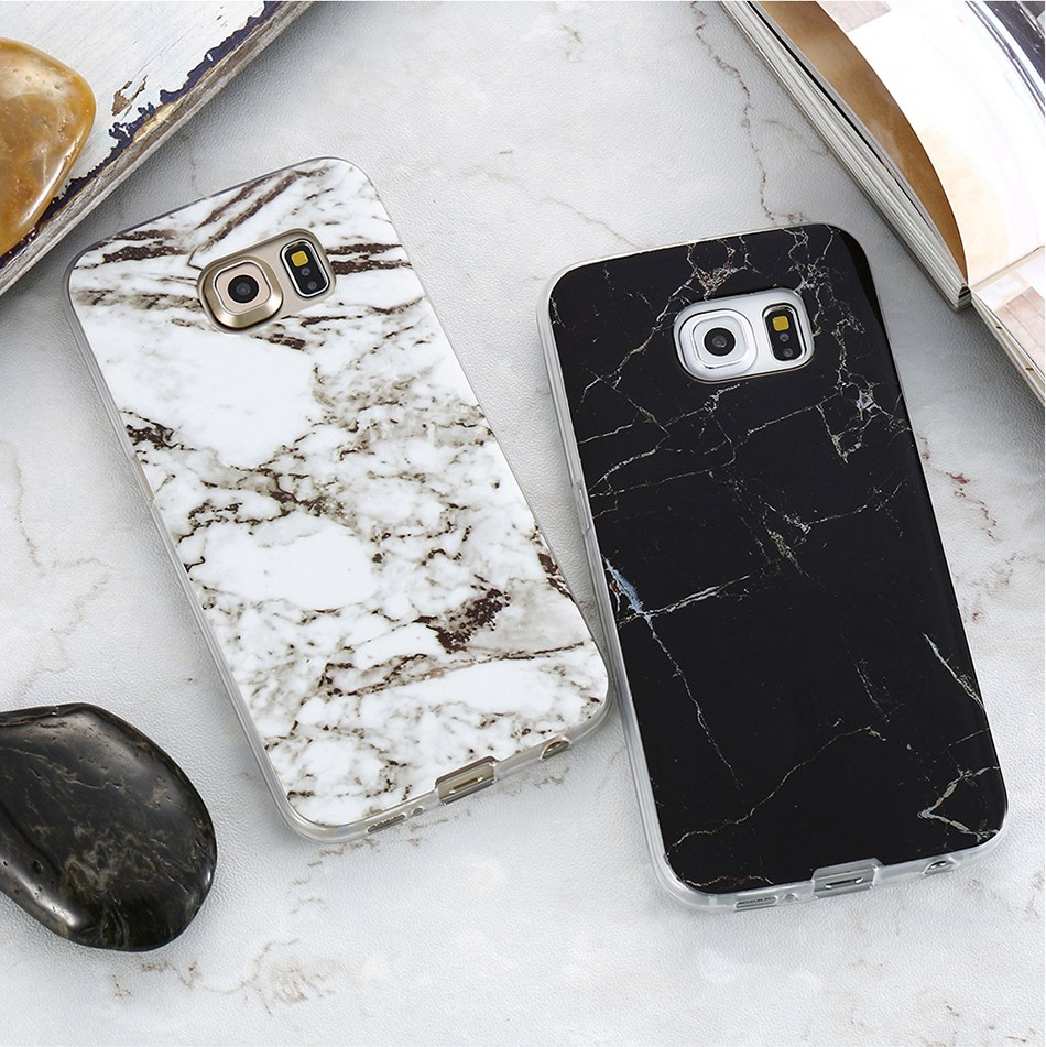 Marble Skin Case For Samsung Galaxy S8 Plus S7 S6 Edge S4 Soft Silicon Phone Cases (13)