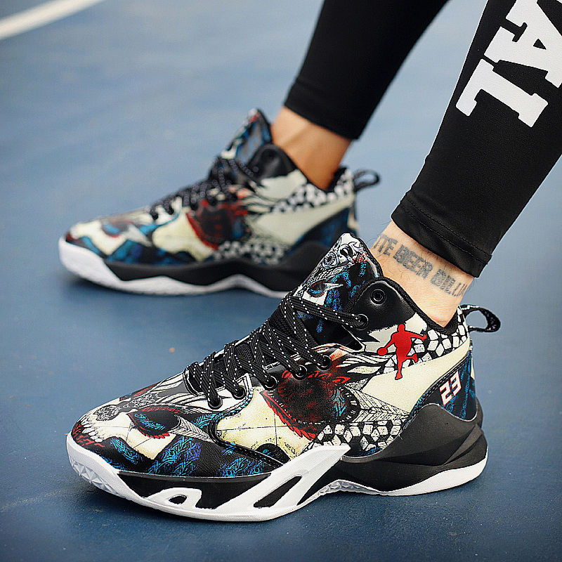 Boy Outdoor Shoes Red Basketball Sneakers Male Pu Leather Sneakers Men High Top Brand Gym Shoes Designer Basketball Shoes Sport 15