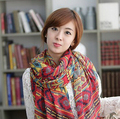 2015 New  Women's Geometric national wind bufandas bandana scarf  made with Voile can keep warm Sunscreen in the winter