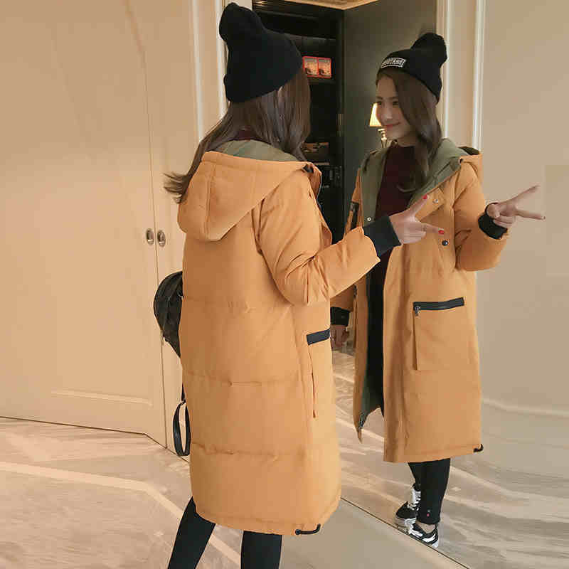 Winter Jacket Thick Large Size Cotton Padded Medium-long Parka Hooded Loose Jacket Fashion High Quality Women Coat TT3304 winter loose bf large size padded jacket women hooded cotton warm coat parka long outerwear solid color women coat tt3249