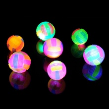 6 5CM Baby Kids Light up Toy Volleyball Bouncing Sound Balls Luminous Toy For Children Flashing