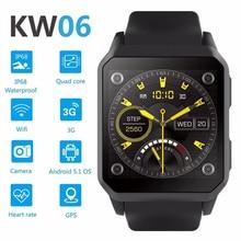 RUIJIE KW06 IP68 Tahan Air GPS Cerdas Menonton Android 5.1 MTK6580 Monitor Denyut Jantung Bluetooth Smartwatch Dukungan Kartu SIM Kamera