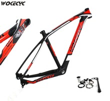 2017 brand new wokecyc mtb carbon frame 29er 3k mountain bikes frame 17 5 #8221 19 #8221 mountain bike 29 ems free shipping cheap Matte 1120+ -30g WK MF29 014 17 5 19 gloss