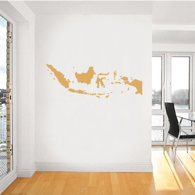 Aliexpress com buy indonesia map globe earth country wall vinyl sticker custom made home decoration fashion design from reliable sticker home decor