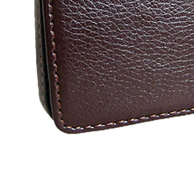 Affordable Magnetic Flip Leather Business Credit Card Case Holder Brown
