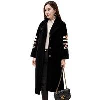 real fur coat 2017 natural lamb fur coats winter jacket women plus size manteau femme hiver palace style