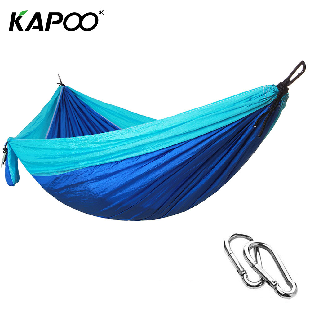 KAPOO Portable Hammock Double Person Camping Survival Garden Hunting Travel Furniture Parachute Large Size Hamak Hamak Hamaca 300 200cm 2 people hammock 2018 camping survival garden hunting leisure travel double person portable parachute hammocks