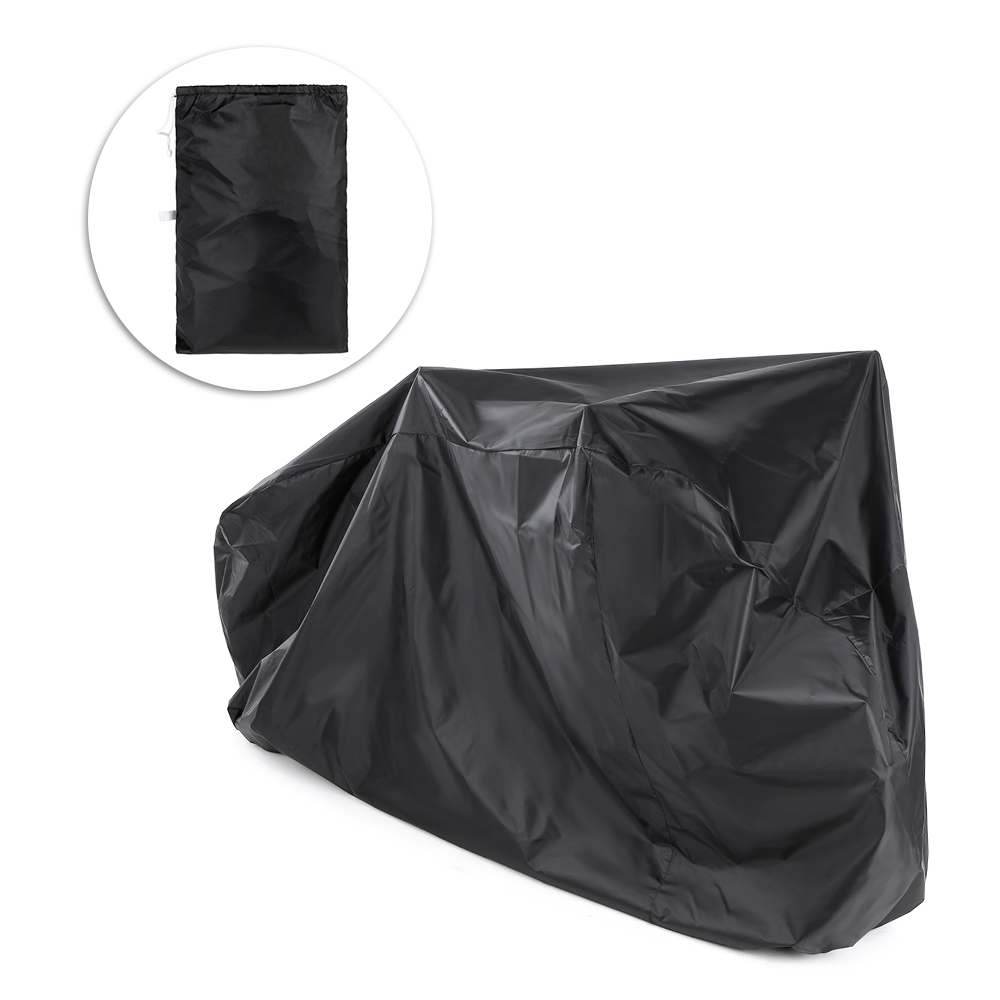 Bike Cover for Outdoor Bicycle Storage 2 Bikes 190T Polyest Water Repellent