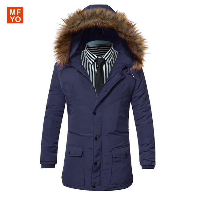 2016 Homens Jaqueta de Inverno Da Marca de Roupas de Design de Moda Com Capuz Grosso Sólida Jaqueta Para Homens Casaco Quente Tamanho M-3XXL