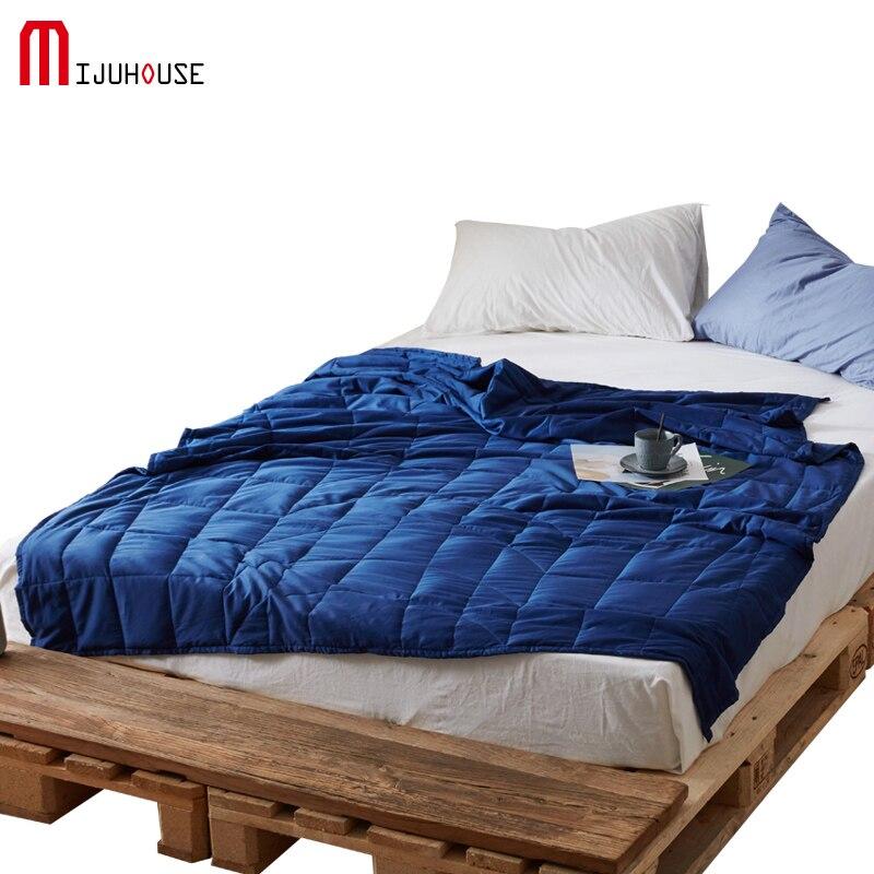 Manta de peso de 100% algodón manta de gravedad ayuda al sueño manta de presión manta de descompresión insomnio gravedad