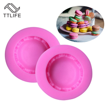 TTLIFE Macaron Shape Biscuit Silicone Mold Fondant Cake Chocolate Soap Sugar Decoration Tool Pastry Cupcake Dessert Baking Mould
