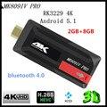 KimTin RK3229 K809IV PRO TV Dongle Rockchip Quad Core Cpu Penta-core BRAZO Androide 5.1 RAM 2 GB ROM 8 GB Bluetooth 4 K H.265 TV palo