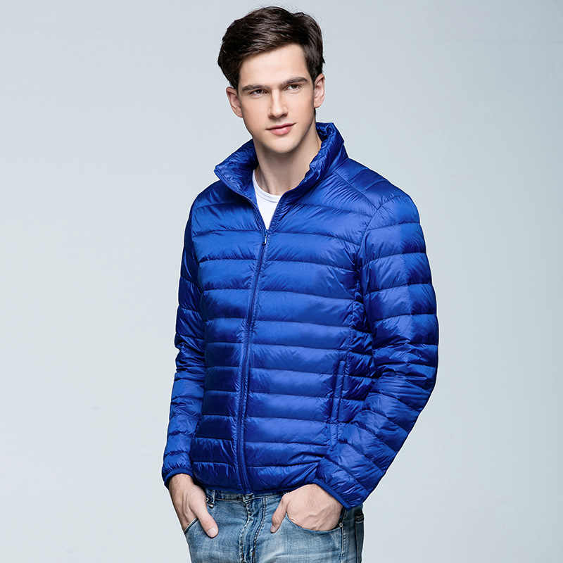 48c553924fe ... Men s Winter Warm Down Coat Standard Collar Male Young Canada Jacket  Down Coat Long Sleeve Pocket
