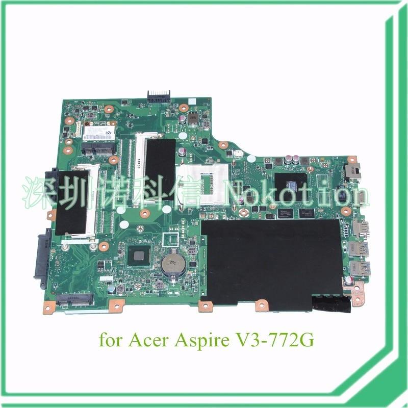 NOKOTION NBMHL11001 NB.MHL11.001 For Acer aspire V3 772G motherboard EA VA70HW MAIN BD DDR3L GT820M graphics