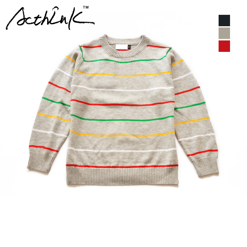 9d2056a5b1ff ActhInK Baby Boys Striped Knitted Pullover Baby Girls Casual Sweater ...
