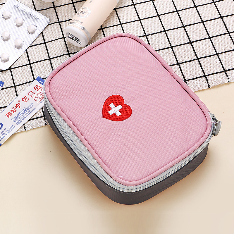 Cute Portable Small Frist Aid Kit Bag Emergency Medical Travel Survival Kit Empty Bag Free Shipping