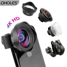 PHOLES Wide Angle Macro Fisheye Lens Camera Mobile Phone 4K HD Lenses For iPhone Samsung Huawei Smartphone Accessories(Hong Kong,China)