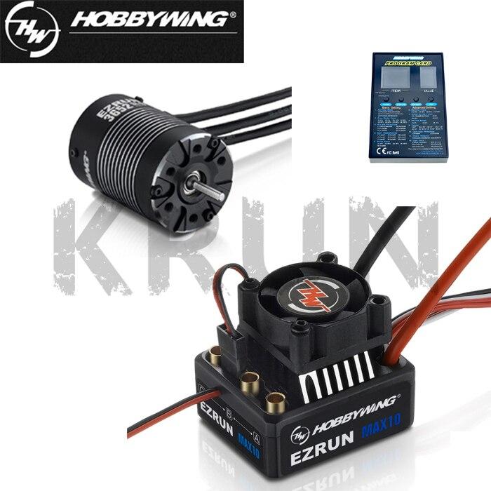Hobbywing Combo EZRUN MAX10 60A Brushless ESC 3652SL G2 3300KV 4000KV 5400KV Brushles LED Programing