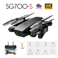 SG700 S WiFi RC Quadcopter With 4K Camera Wide Angle Selfie Drone Palm Control Helicopter with HD Dual Cameraone click Return