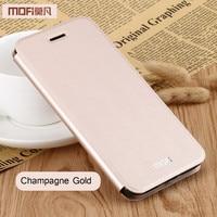 Redmi 4X Case Cover Rose Gold Xiaomi Redmi 4x Cover MOFi Original Flip Case PU Leather