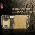 Frete Grátis Novo 100% de Alta Qualidade suporte para Carro CD/saco de Óculos De Sol/Pen/CD/Cartão Clipe multifuncional pasta