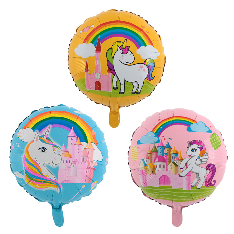 Home & Garden 50pc/lot 18inch Rainbow Unicorn Horse Foil Balloons Birthday Party Baby Shower Supplies Kid Gifts Horse Animal Party Toys Globos