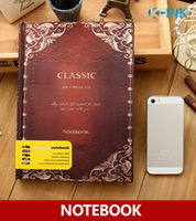 B5 Hard Cover Notebook , Vintage Classic Business Diary Book for Daily Memo , Notepads