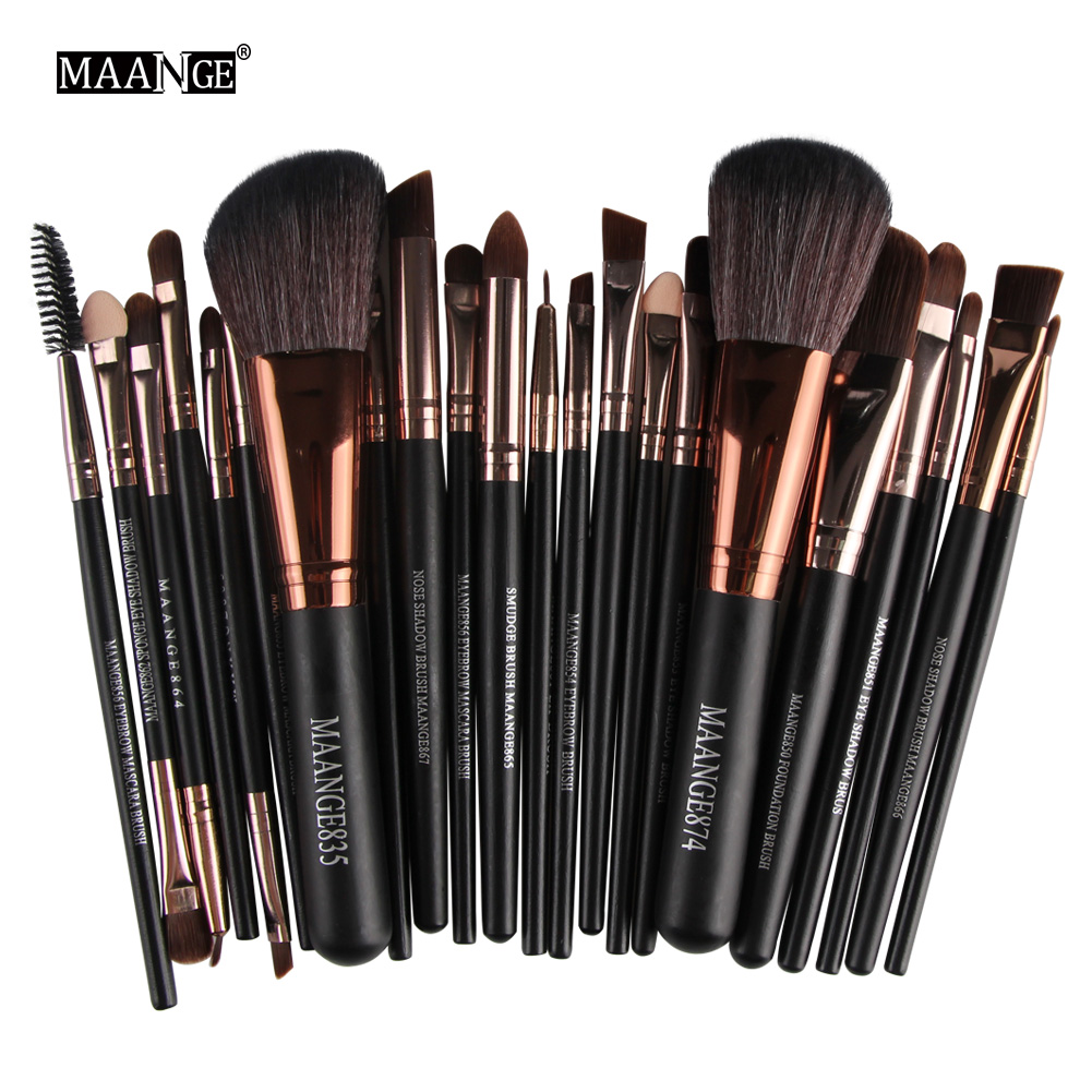 2018 Professional 22pcs Cosmetic Makeup Brushes Set Blusher Eyeshadow Powder Foundation Eyebrow Lip Make up Brush Maquiagem Kit