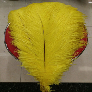 natural yellow ostrich feather 40-45 cm / 16 to18 inches 50 pcs ostrich feather for wedding decorations high quality plume